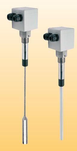 interruptor de nivel capacitivo / para productos a granel / de acero inoxidable / de polipropileno
