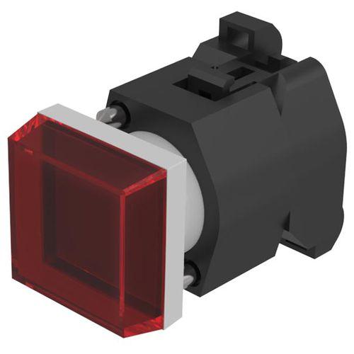 botón pulsador táctil / de seta / con luz LED / acción momentánea
