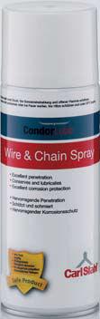 aceite de lubricación / sintético / para cadena / para cables