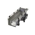 criba vibratoria lineal / para productos a granel / de fondo perforado / con electroimán