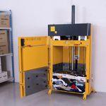 prensa de balas vertical / de carga frontal / para textiles / para ropa