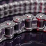 cadena de transmisión / de acero / de rodillos / para la industria