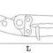 cizalla manual / para chapa metálica / para cintas de flejado / de mano