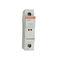 portafusible cilíndrico / en riel DIN / compacto / IEC