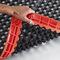 alfombra antifatiga / de entramados / de caucho nitrilo / para espacio húmedo