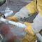 guante de manipulación / criogénico / de piel de vaca / antideslizante
