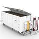 silo para biomasa / con fondo móvil