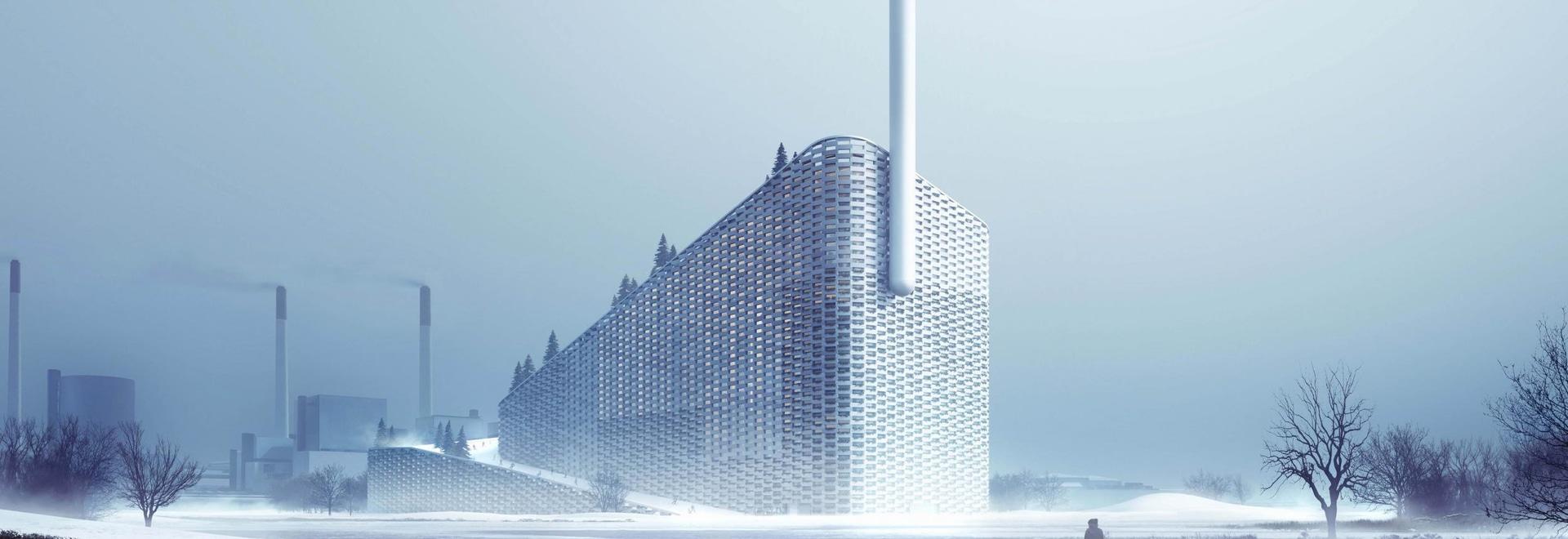 B&W entrega la basura de Copenhill a la instalación de la energía y del esquí en Copenhague