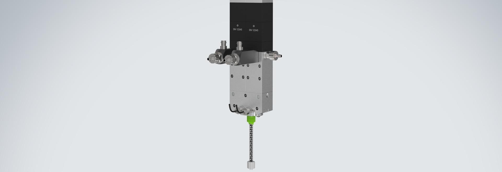 Cabezal de impresión de 2 componentes vipro-HEAD con sensores de presión de salida.