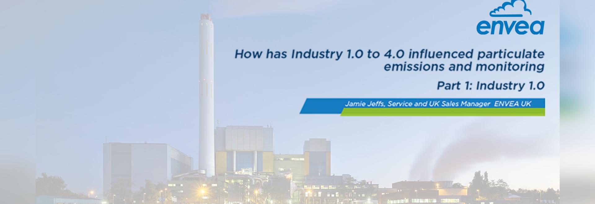 ¿Cómo ha influido la industria de 1.0 a 4.0 en las emisiones de partículas y el monitoreo?