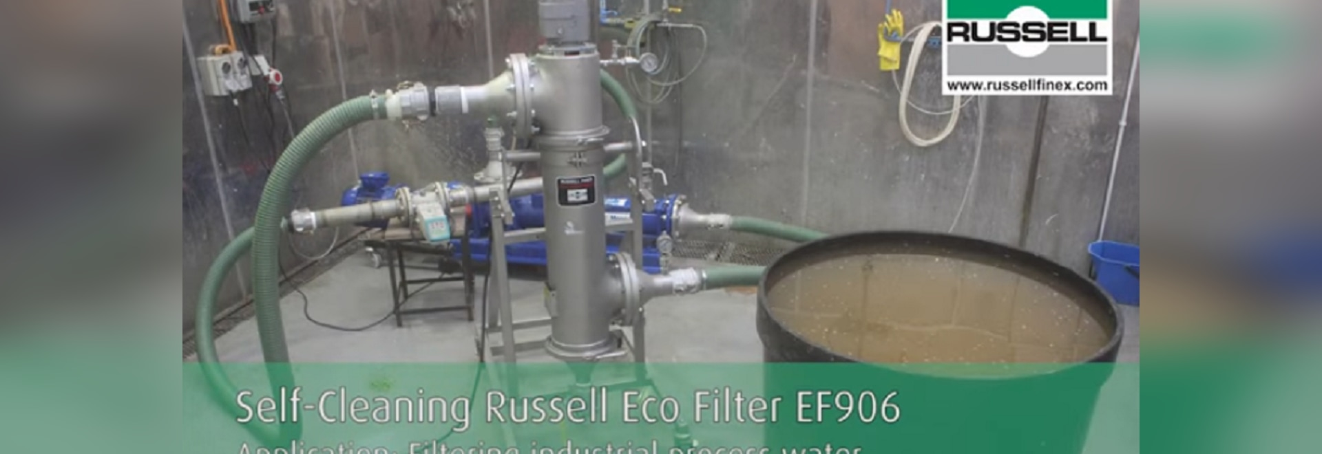Filtro industrial en línea para recuperar agua procesada