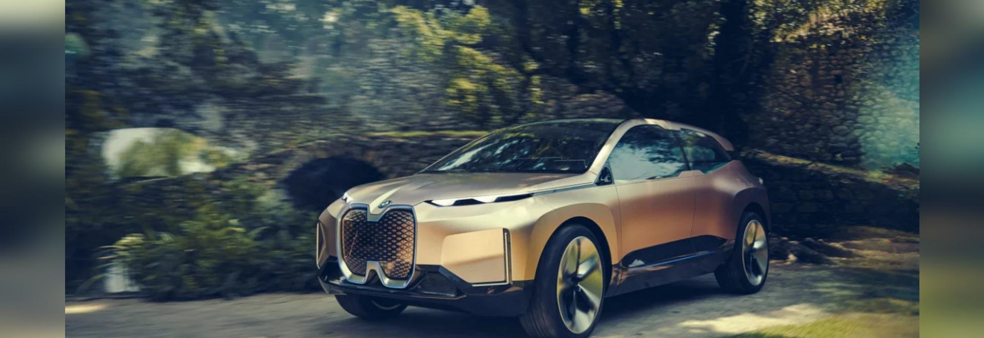 El iNEXT Concept Car de Vision de BMW ofrece un 3D Sensor-lleno imprimió la parrilla