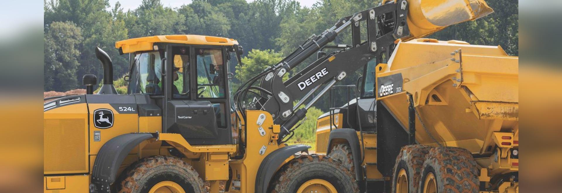 John Deere 524, 544, 624 cargadores de la rueda de la serie L