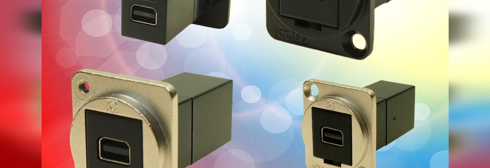 Mini Displayport añadido a la gama de conectores FeedThrough de Cliff