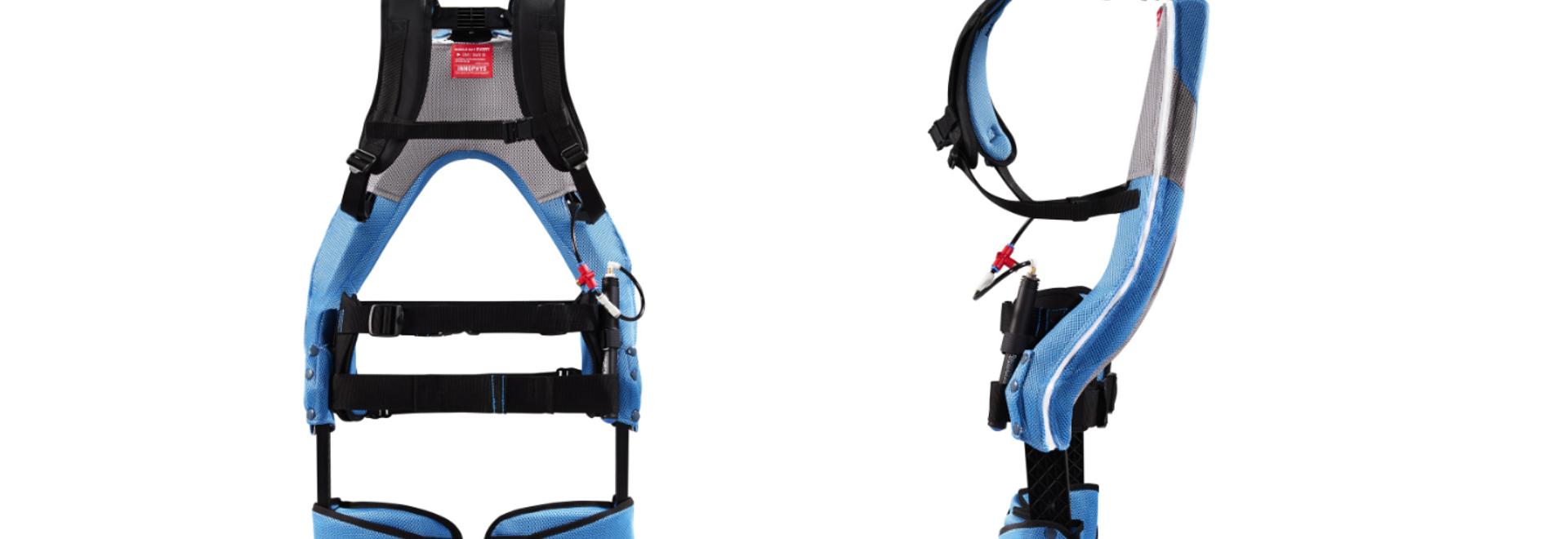 El sistema utiliza músculos artificiales neumáticos (PAM): un músculo artificial de tipo McKibben que emplea aire comprimido para dar al usuario hasta 25,5kgf de potencia de asistencia