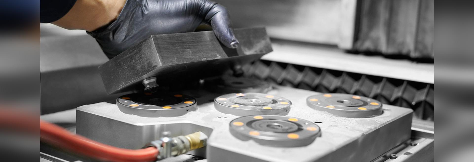 La tecnología Zero-Point System de AMF le permite reducir el tiempo de preparación a una décima parte