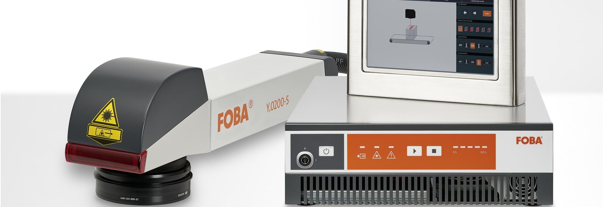La unidad de marcado FOBA Y.0200-S puede ser controlada usando el controlador láser de pantalla táctil a color de 10,1 pulgadas con clasificación IP65. (derechos de imagen: FOBA)