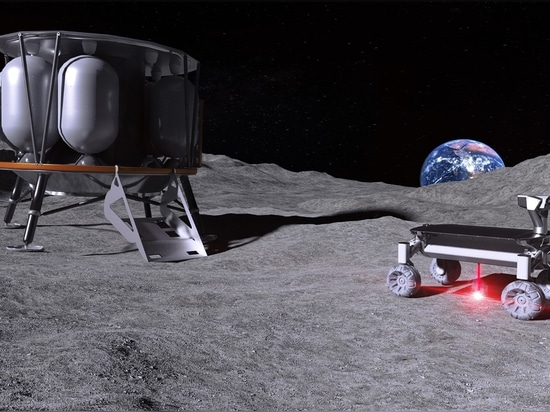Láser para fundir el polvo lunar para la fabricación de aditivos en el espacio