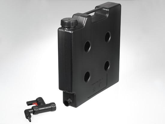 Recipiente compacto, eléctricamente conductivo