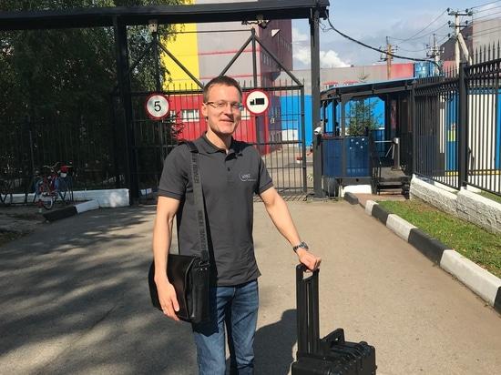 Stanislav Biryukov visitando clientes