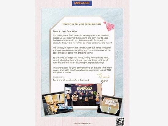 Agradecimiento especial al apoyo material de los clientes de Corea