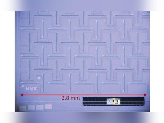 El arsenal de antena es una secundario-antena ortogonal de la ranura 12 X12 y red el sumar. El arsenal se diseña para beamforming dentro de la unidad del polarímetro. (Cortesía del lanzamiento de l...