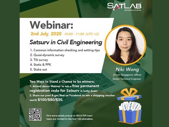 【SatLab Webinar】Satsurv en Ingeniería Civil
