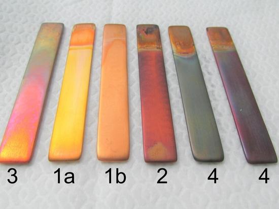 Diversos niveles de corrosión mostrados por la prueba de tira de cobre de acuerdo con ASTM D130 — Los productos de Oemeta etiquetaron 1a (2do de ido).