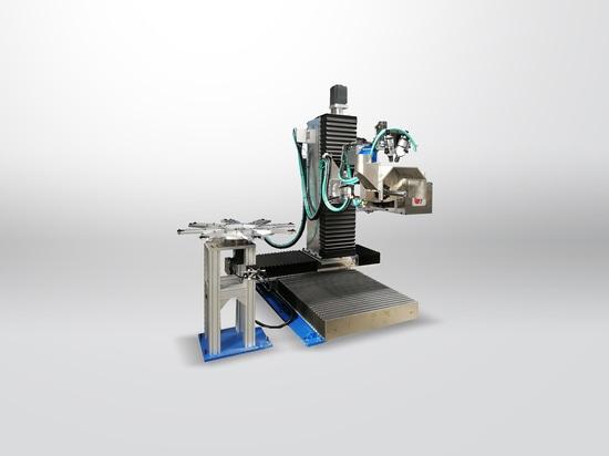 Máquina pulidora con el almacén rotatorio