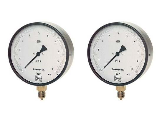 Manómetros de prueba de tubo Bourdon Mango Aplicaciones de Precise Lab