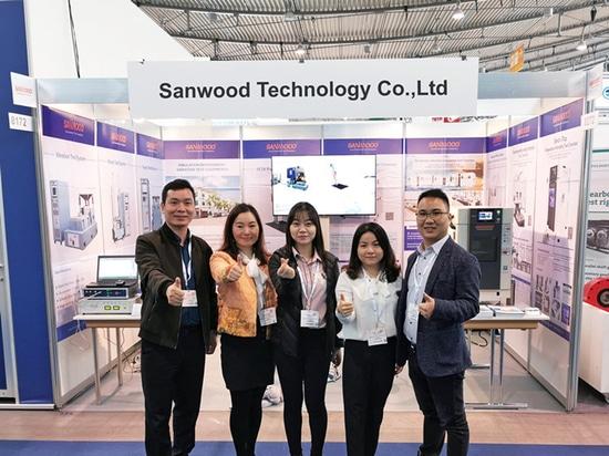 2019 Alemania Stuttgart Automotive Testing Expo Bienvenido a nuestro stand 8272 Sanwood Technology Co