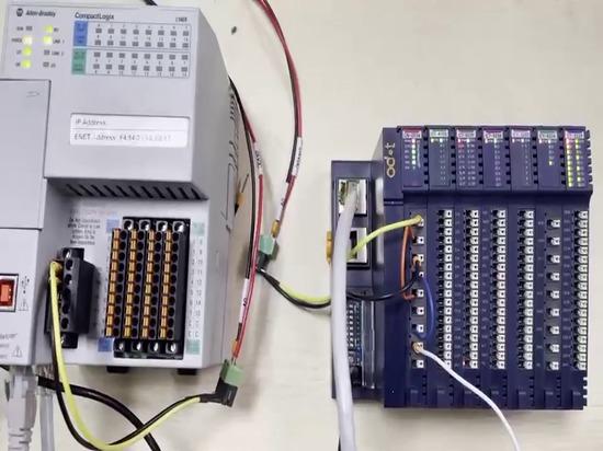 ODOT CN-8034 Prueba del adaptador EtherNET/IP con PLC AB