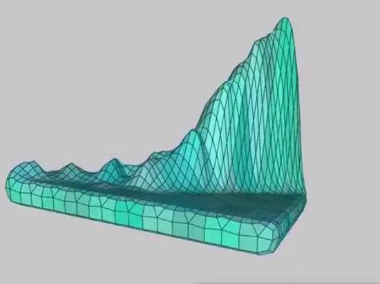 Visualice y DNA de la impresión 3D de su Web site con paisajes majestuosos