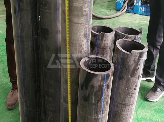 Máquina trituradora de plástico para tubos de HDPE industrial en Europa