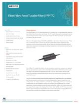 Fiber Fabry-Perot Tunable Filters, FFP-TF2