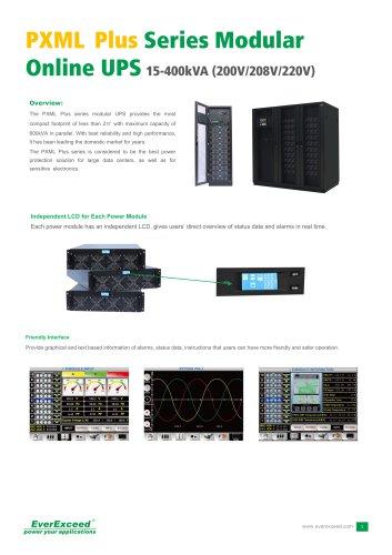 208V & 120V Parallel UPS 15-400kVA PXML Plus series