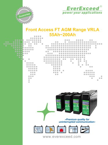 Front access battery FT series