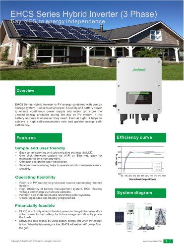 Hybrid DC/AC inverter EHCS series