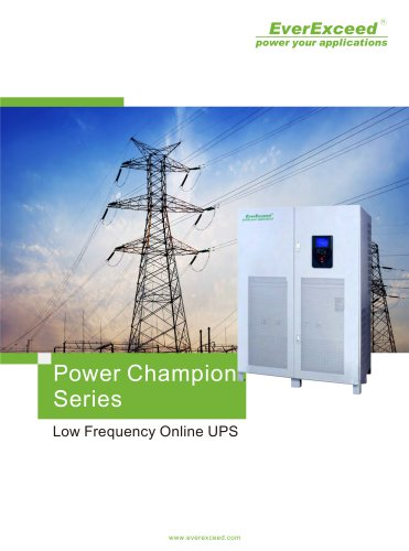 Industrial On-line UPS 10-800kVA PowerChampion series