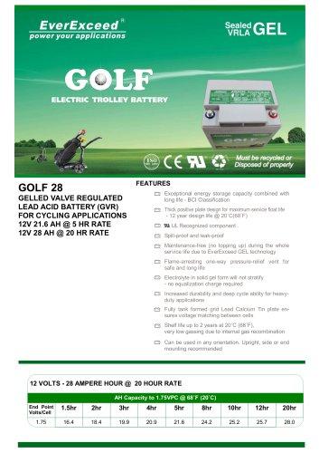 Lead-acid battery Golf 28
