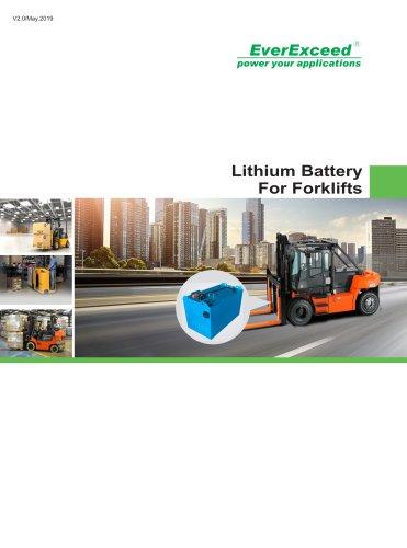 LEV series Forklift Battery