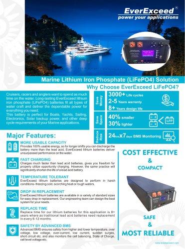 lifepo4 battery Marine series