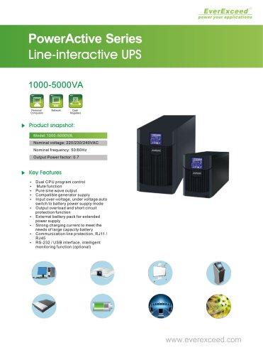 Line-interactive UPS 1-5KVA PowerActive series