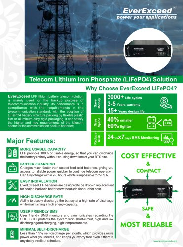 Lithium iron phosphate battery EV4850-T series