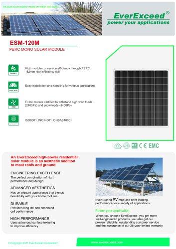 Monocrystalline solar panel ESM-120M