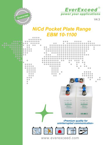 Ni-Cd battery EBM series