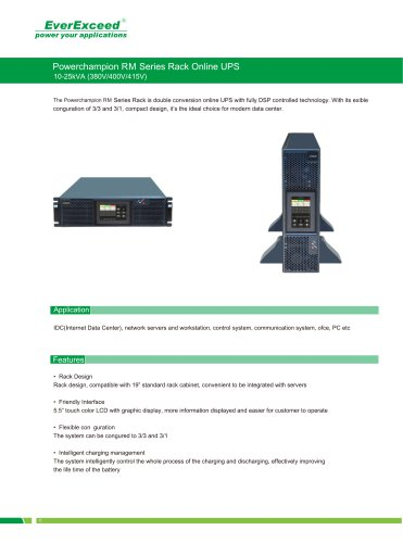 On-line UPS 10-25kVA PowerChampion RM series