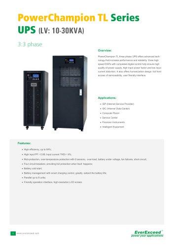 Parallel UPS 10-30kVA PowerChampion TL series