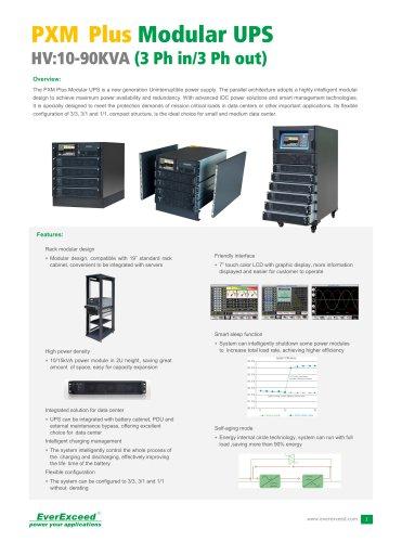 Parallel UPS 10-90kVA PXM Plus Series