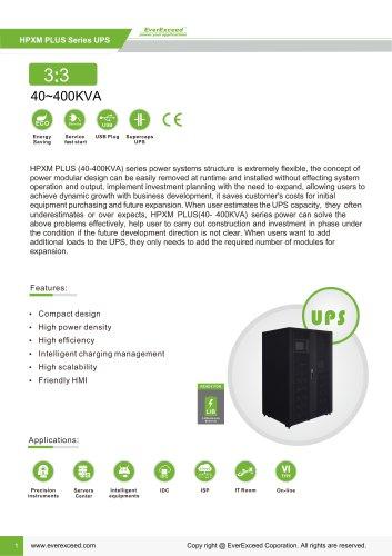 Parallel UPS 40-400KVA HPXM Plus series
